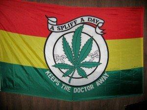 Bandiera nella casa di Bob Marley