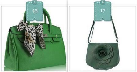 borsa verde donna