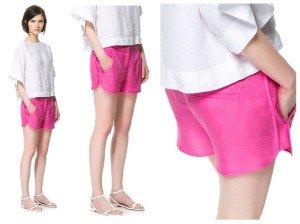 Zara, shorts fucsia