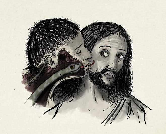 Inferno bacio di Giuda