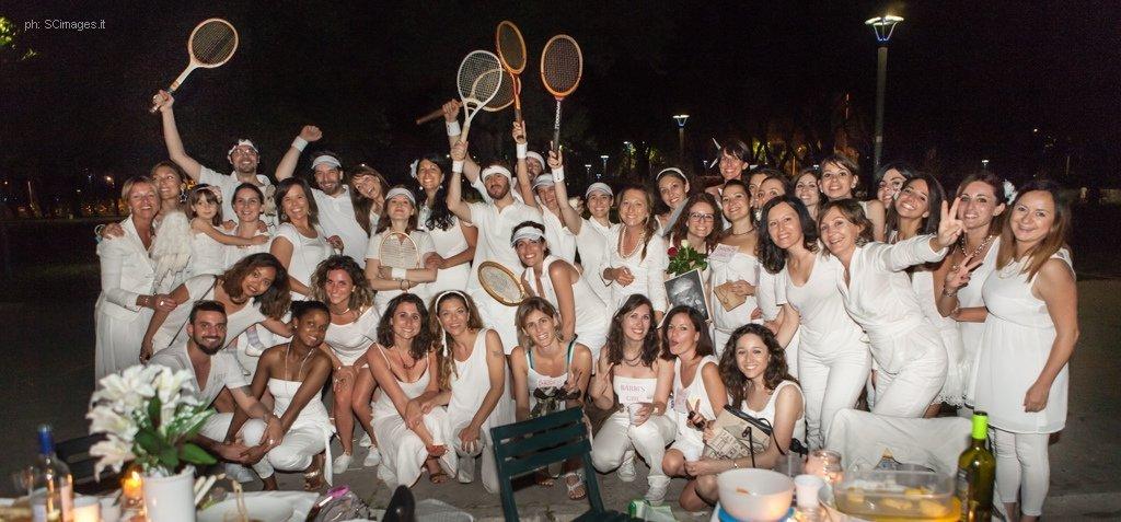 Cena in bianco tennisti