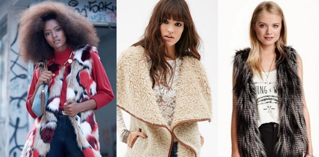 Tendenza autunno inverno 2015: gilet di pelliccia