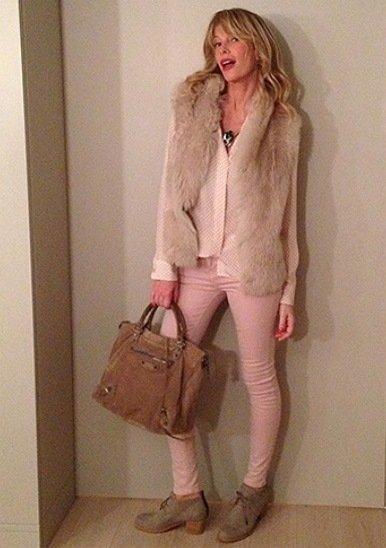 Tendenze autunno inverno 2015 Gilet pelliccia Alessia Marcuzzi