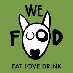 We Food eat love drink logo