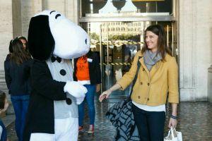 Inaugurazione Snoopy Laura e Snoopy
