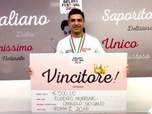 Il cannolo siciliano Eugenio Morrone Gelato festival vincitore