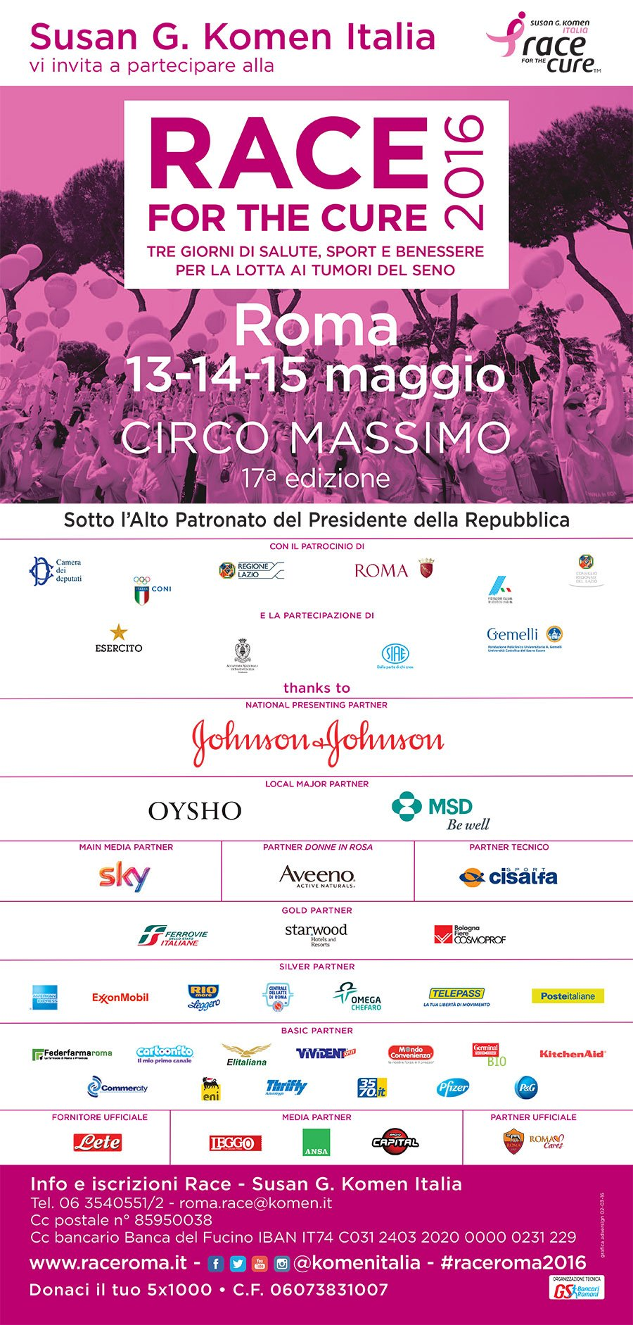 Race for the cure locandina 2016