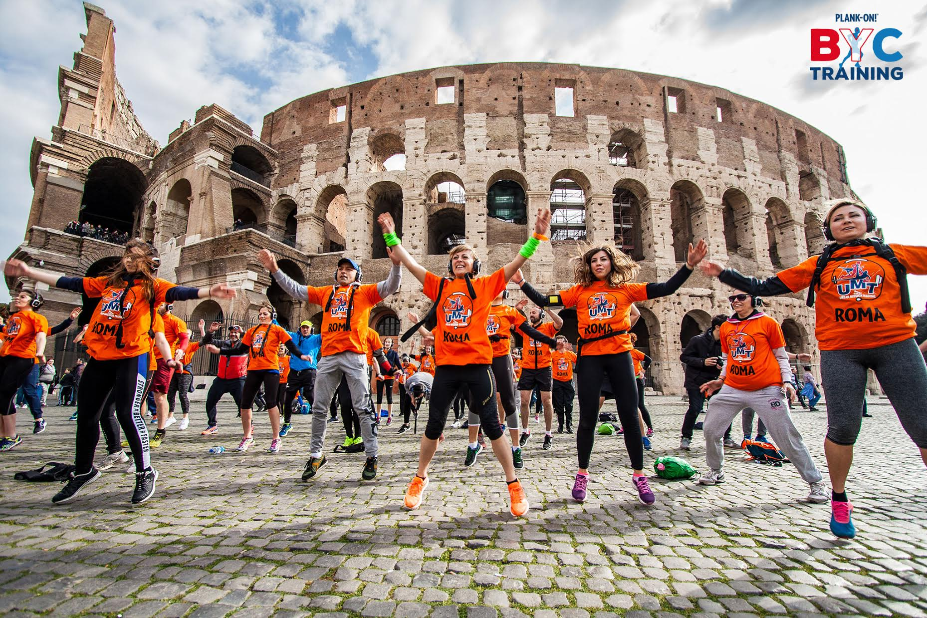 Torna a Roma il 29 aprile l'allenamento urbano Plank-on! Believe in Your Core Training™