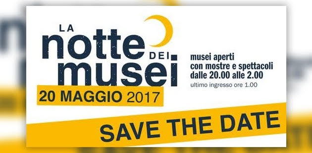 save the date la notte dei musei roma 2017