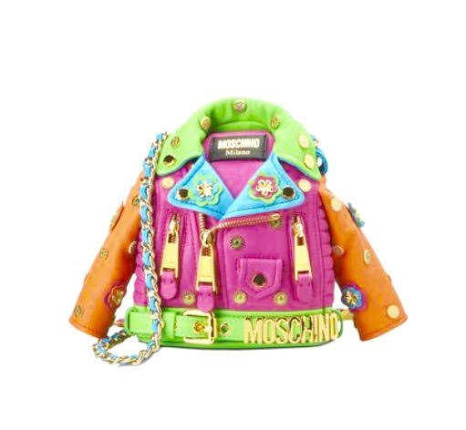 tendenze moda estate 2017 borsa moschino chiodo
