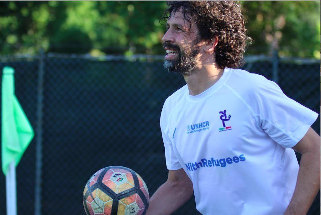 Champions #withrefugees damiano tommasi partita liberi nantes 1