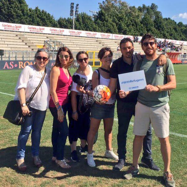 Champions #withrefugees foto di gruppo blogger imfluencer