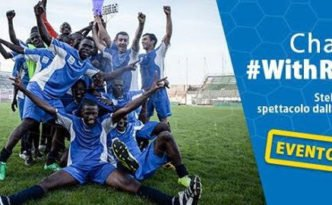 Champions #withrefugees roma 18 giugno