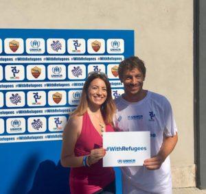 Champions #withrefugees roma giorgio pasotti
