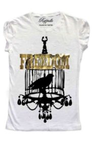Ranpollo t-shirt gold freedom