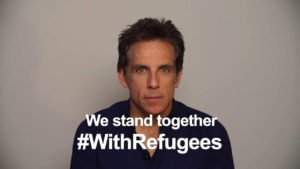 ben stiller Champions #withrefugees