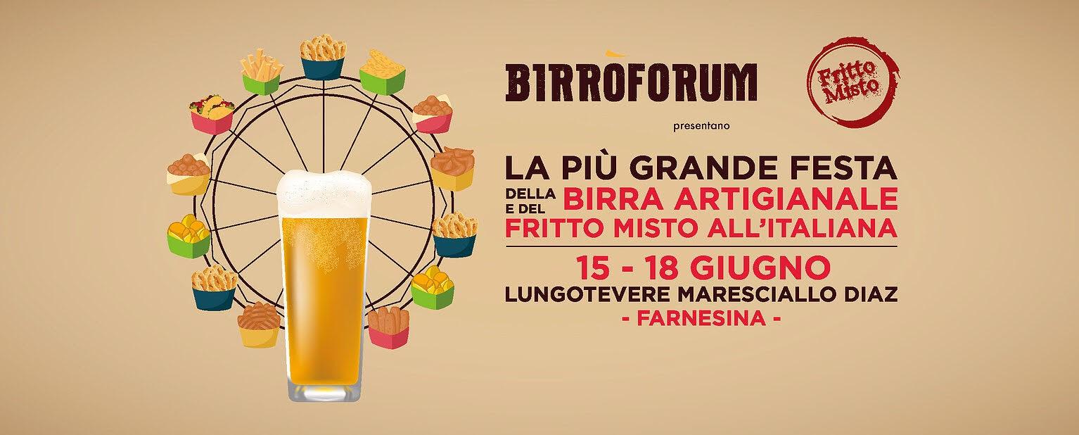 Birròforum, la festa della birra artigianale e del fritto misto