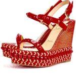 tendenza scarpe estate 2017 espadrillas Louboutin rosso