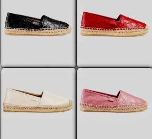 tendenza scarpe estate 2017 espadrillas espadrilles gucci pelle