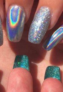 tendenze 2017 flip manicure unghie double face mirror