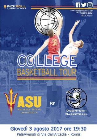 basket college locandina roma 3 agosto