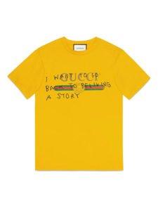 nuova collezione gucci coco capitan t shirt gialla