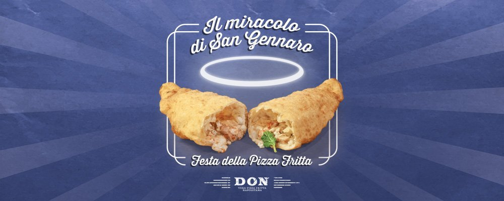 """""""Il miracolo di San Gennaro"""" la festa della pizza fritta da DON a Roma"""