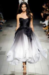 fashion week new york sfilata Marchesa abito sfumato