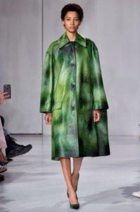 fashion week new york sfilata calvin Klein cappotto verde