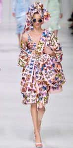 milano fashion week PE 2017 versace farfalle