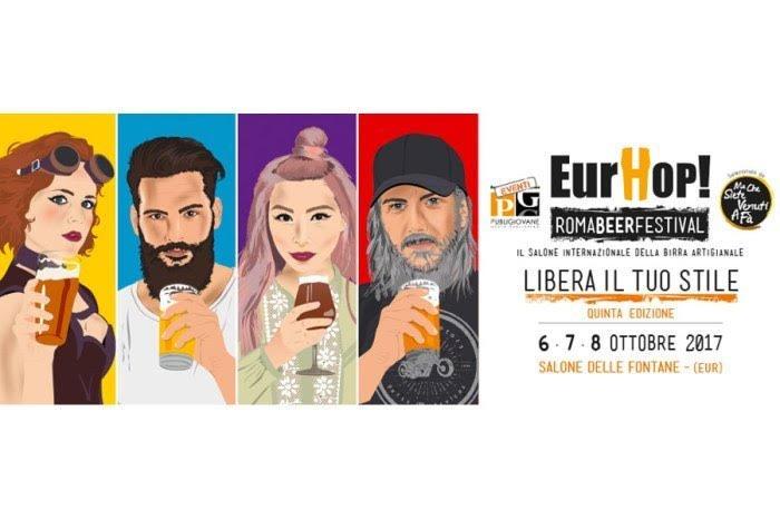 oktoberfest a roma eurhop! salone delle fontane eur festival della birra artigianale 2017 locandina