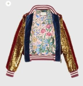 tendenze must have 2017 2018 sfilate bomber gucci paillettes