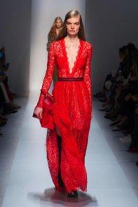 tendenze must have 2017 2018 sfilate vestito rosso