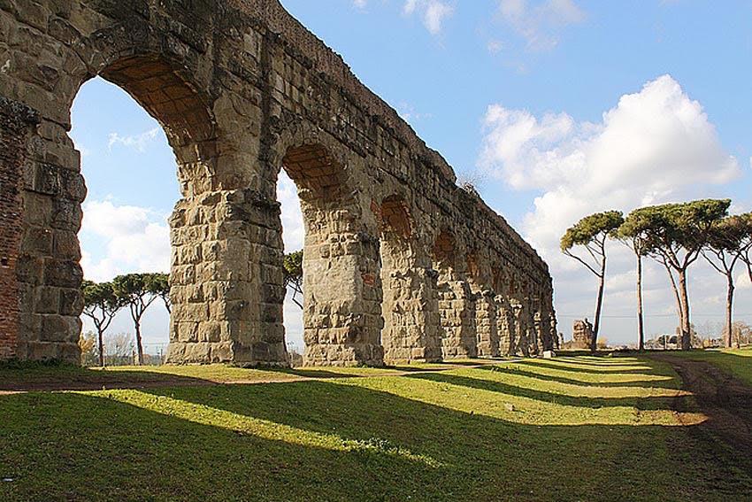 week end 16 e 17 roma tramonto sugli acquedotti di roma antica san policarpo