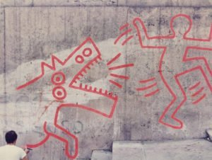 week end 16 e 17 settembre macro cross the street keith haring deleted 2