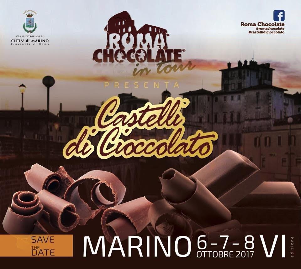 castelli di cioccolato 6-7-8 ottobre Marino locandina