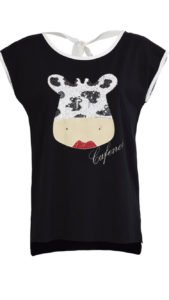 paillettes tendenza 2017 2018 t shirt mucca cafenoir