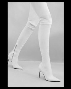 stivale alto over the knee cuissard sergio rossi bianco