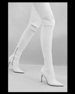 stivale alto over the knee cuissard sergio rossi bianco