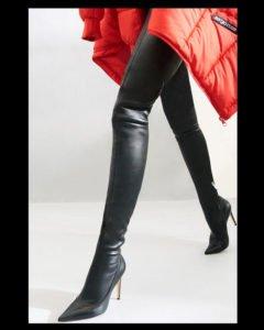 stivale alto over the knee cuissard sergio rossi cindy nero