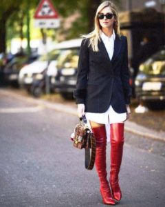 stivali alti cuissard over the knee chiara ferragni stivali fendi rossi