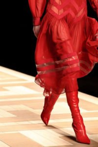 stivali alti cuissard over the knee stivali fendi rossi pelle lucida