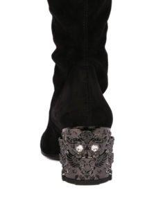 stivali alti cuissard over the knee strategia dettaglio tacco decorato
