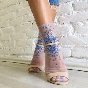 calze calzini lirika matoshi cristalli azzurri