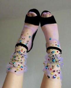 calze calzini lirika matoshi cristalli colorati