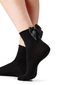 calze calzini neri con fiocco calzedonia
