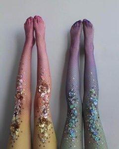 calze con applicazioni gioiello lirika matoshi