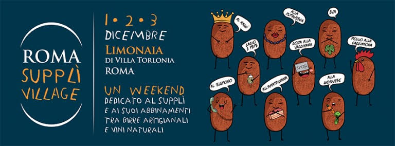 weekend 2 3 dicembre roma supplì village limonaia villa torlonia locandina
