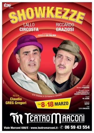 Showkezze teatro marconi greg locandina