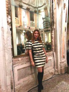 cristiano burani sfilata milano fashion week elenia scarsella